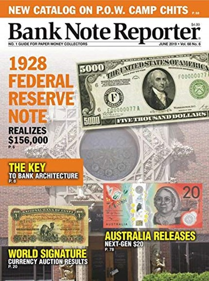 Bank Note Reporter Cover - 6/1/2019