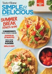 Simple & Delicious Magazine | 6/1/2019 Cover