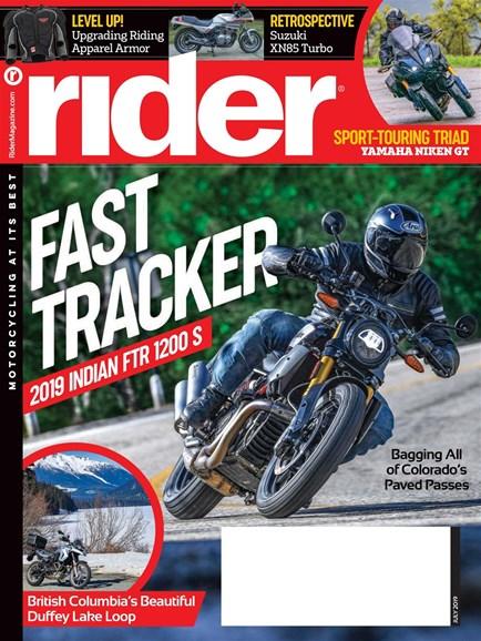 Rider Cover - 7/1/2019