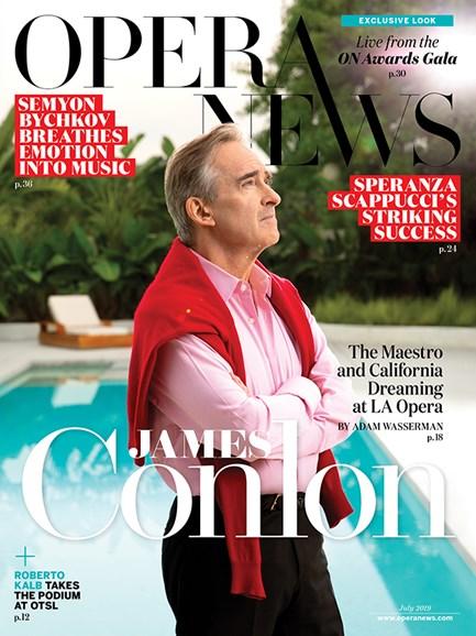 Opera News Cover - 7/1/2019