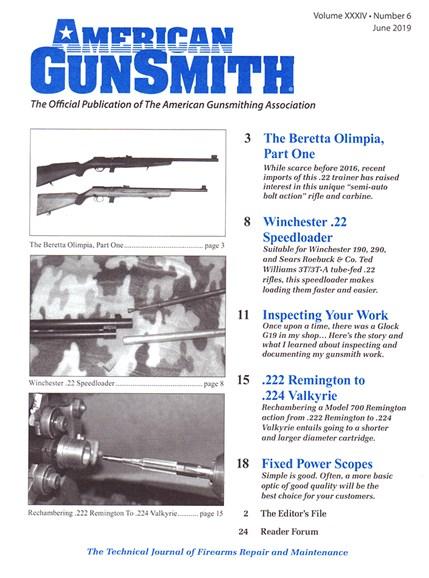American Gunsmith Cover - 6/1/2019