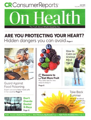 Consumer Reports On Health Magazine | 7/2019 Cover