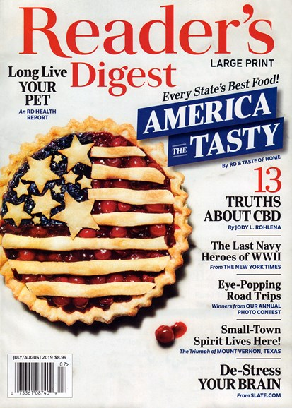 Reader's Digest - Large Print Edition Cover - 7/1/2019