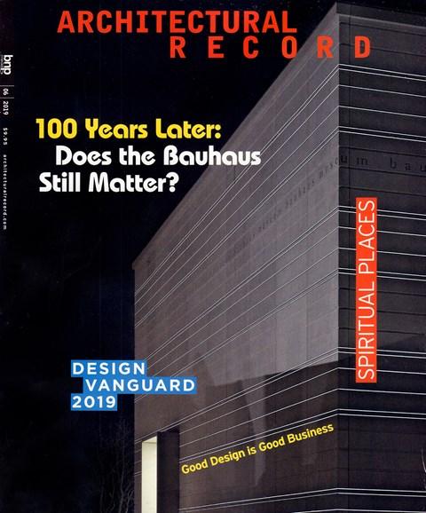 Architectural Record Cover - 6/1/2019