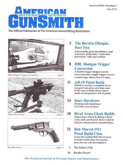 American Gunsmith Cover - 7/1/2019