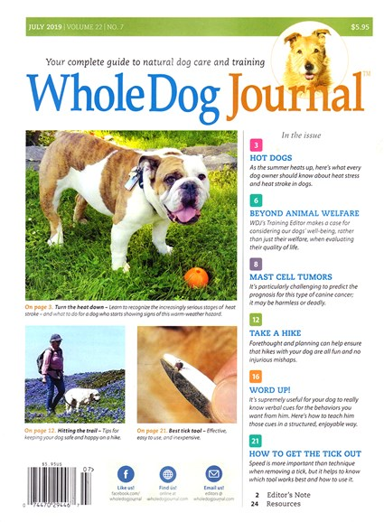 Whole Dog Journal Cover - 7/1/2019