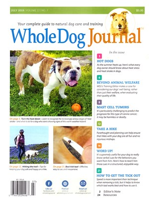 Whole Dog Journal | 7/2019 Cover