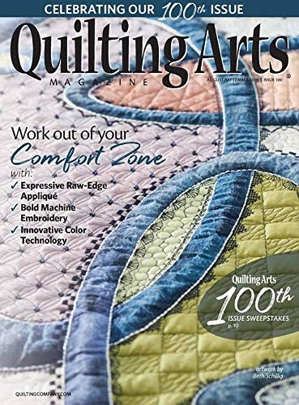 Quilting Arts Cover - 8/1/2019