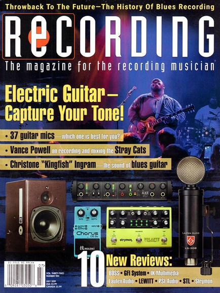 Recording Magazine Cover - 7/1/2019