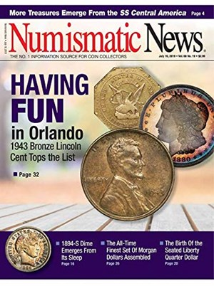 Numismatic News Magazine | 7/18/2019 Cover