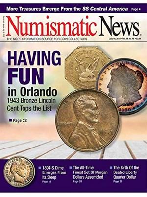Numismatic News Magazine   7/18/2019 Cover