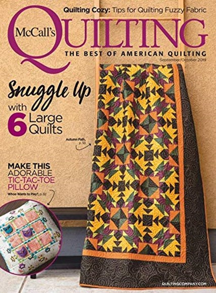 McCall's Quilting Cover - 9/1/2019