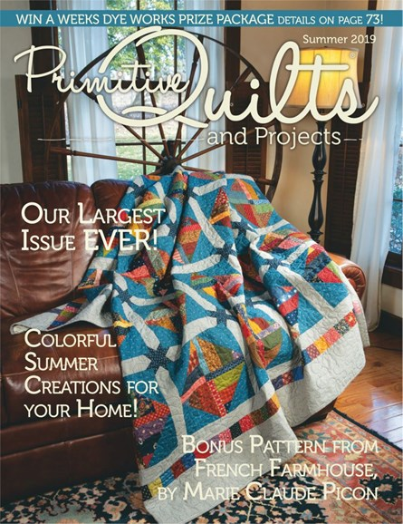 Primitive Quilts & Projects Cover - 6/1/2019