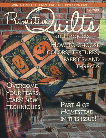 Primitive Quilts & Projects Cover - 9/1/2019