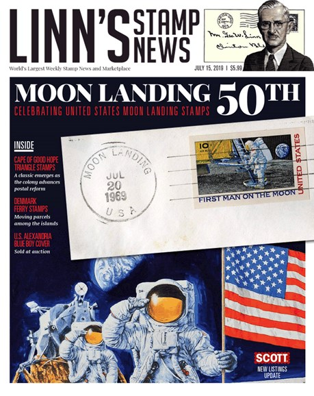Linn's Stamp News Monthly Cover - 7/15/2019