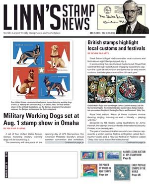 Linn's Stamp News Magazine | 7/29/2019 Cover