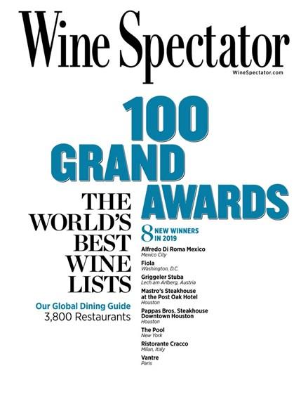 Wine Spectator Cover - 8/31/2019