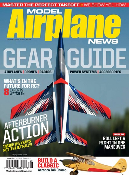 Model Airplane News Cover - 8/1/2019
