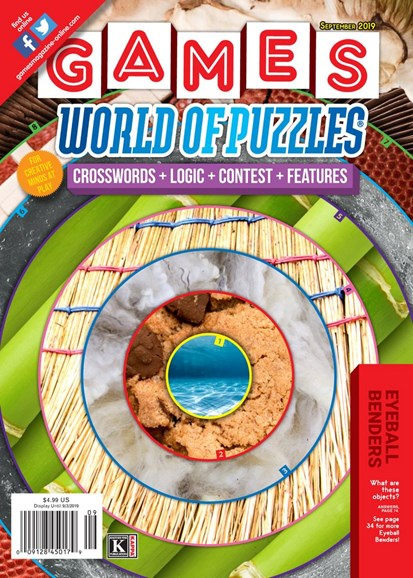 Games World of Puzzles Cover - 9/1/2019