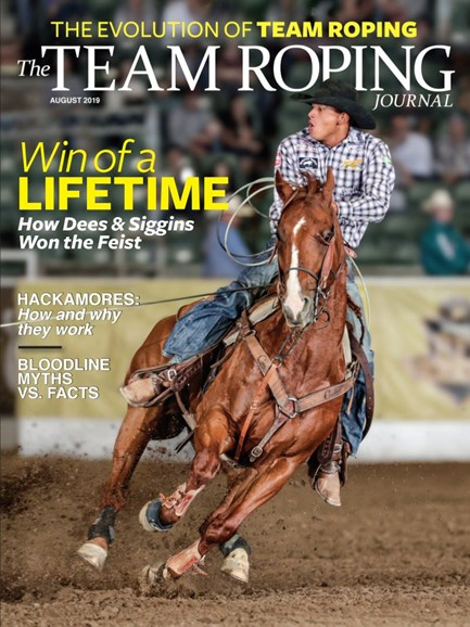 The Team Roping Journal Cover - 8/1/2019