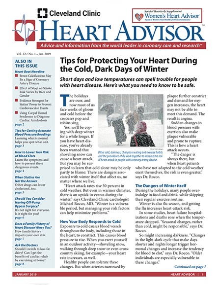 Heart Advisor Cover - 1/1/2019