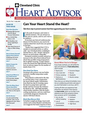 Heart Advisor Newsletter | 7/2019 Cover