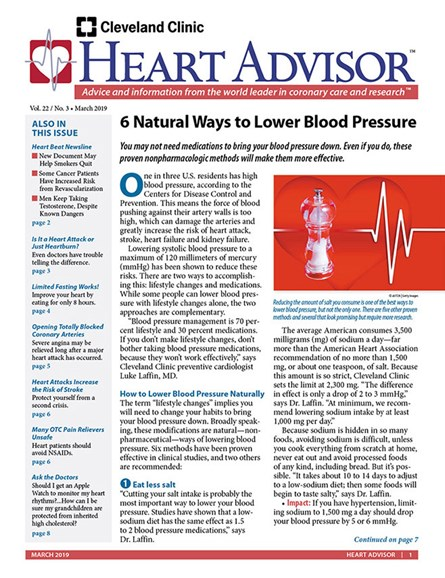 Heart Advisor Cover - 3/1/2019