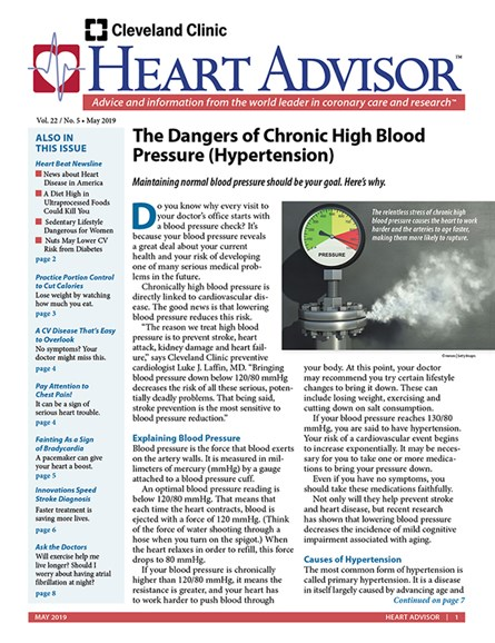 Heart Advisor Cover - 5/1/2019