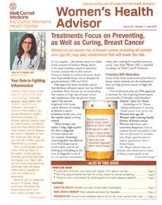 Women's Health Advisor   7/2019 Cover