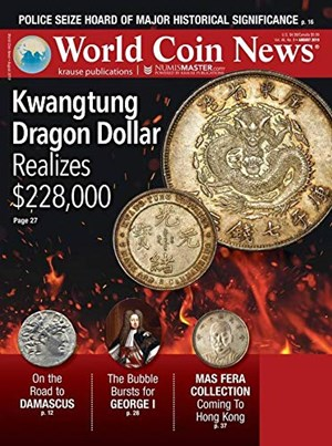 World Coin News Magazine | 8/2019 Cover