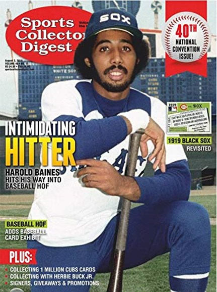 Sports Collectors Digest Cover - 8/2/2019