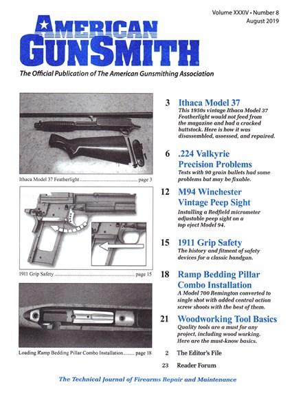 American Gunsmith Cover - 8/1/2019
