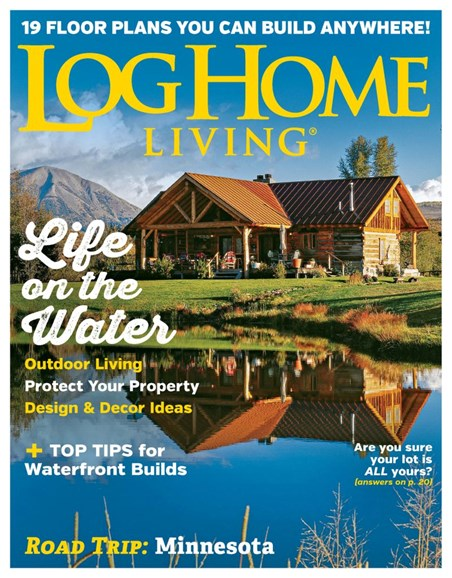 Log Home Living Cover - 8/1/2019