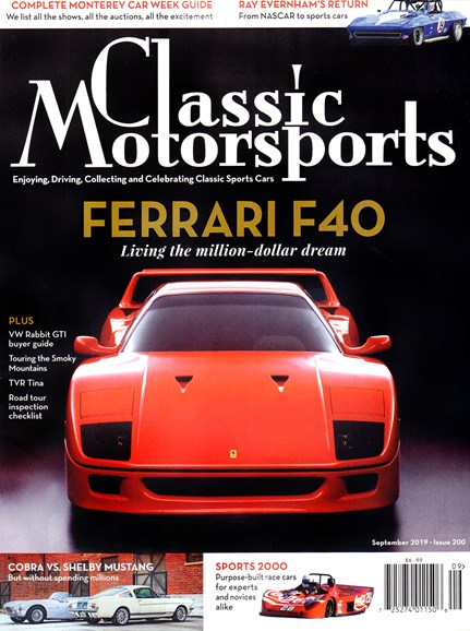 Classic Motorsports Cover - 9/1/2019