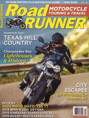Road RUNNER Motorcycle and Touring Magazine | 10/2019 Cover