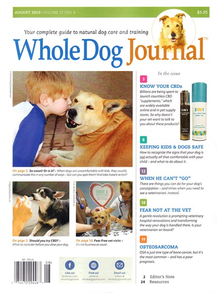 Whole Dog Journal Cover - 8/1/2019
