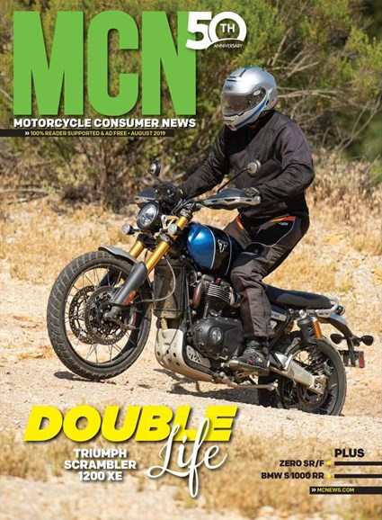Motorcycle Consumer News Cover - 8/1/2019