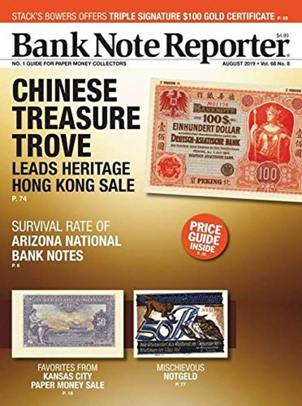 Bank Note Reporter Cover - 8/1/2019