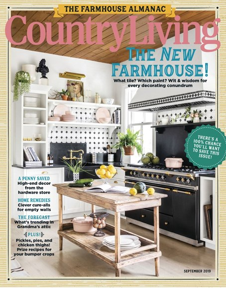Country Living Cover - 9/1/2019