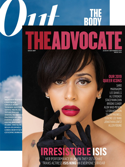 Out & The Advocate Edition Cover - 8/1/2019