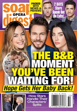 Soap Opera Digest Magazine | 8/12/2019 Cover