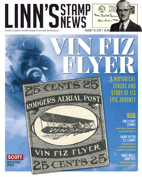 Linn's Stamp News Monthly Cover - 8/19/2019