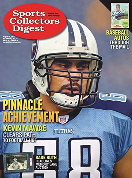 Sports Collectors Digest Cover - 8/16/2019