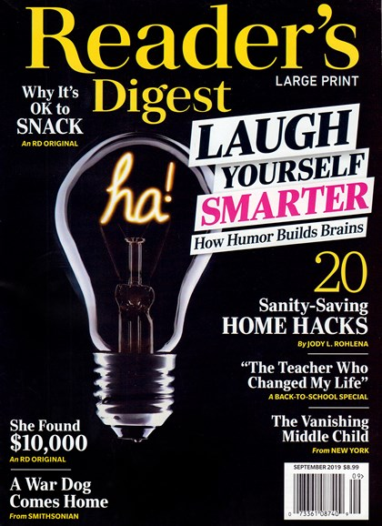 Reader's Digest - Large Print Edition Cover - 9/1/2019
