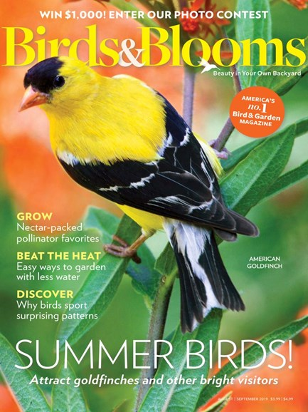 Birds & Blooms Cover - 8/1/2019