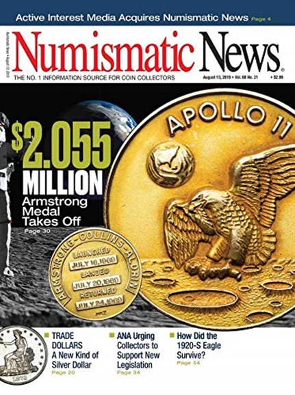 Numismatic News Cover - 8/13/2019