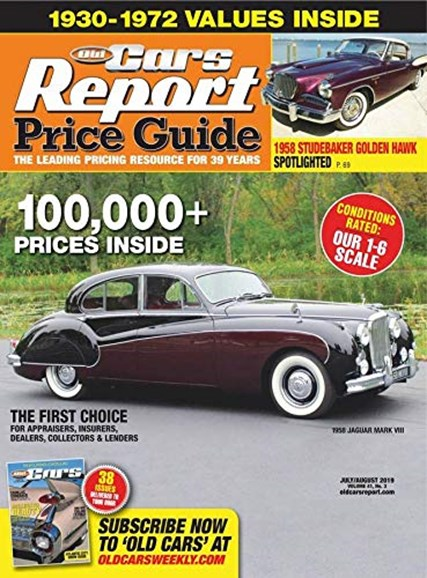 Old Cars Report Price Guide Cover - 7/1/2019