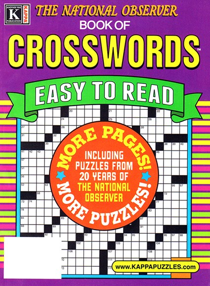 The National Observer Book of Crosswords Cover - 1/1/2025