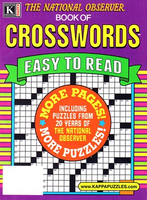The National Observer Book of Crosswords Magazine | 1/1/2025 Cover