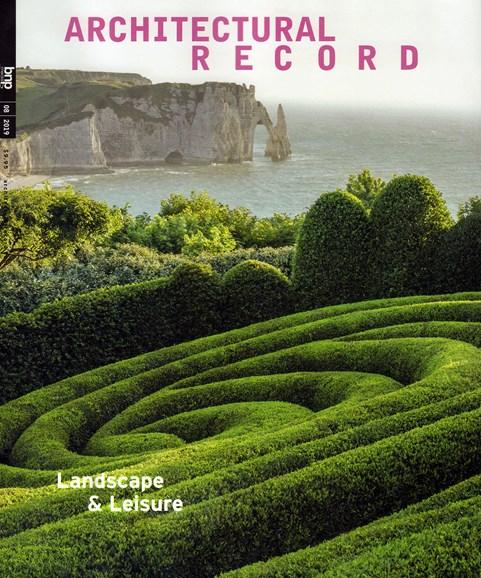 Architectural Record Cover - 8/1/2019